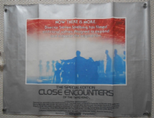 Close Encounters of the 3rd Kind, Original UK Quad Film Poster, Spielberg '80